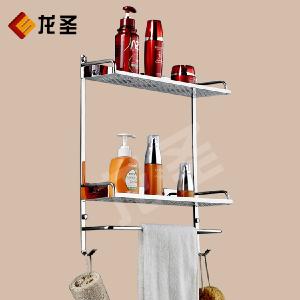 不锈钢卫生间置物架子挂壁玻璃架浴室收纳架子三脚架